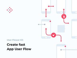在Sketch,User Flower Kit中创建快速App用户流程