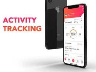 适用于Sketch&XD的锻炼训练和医疗保健应用程序iOS UI工具包,Fitness Love 2.0