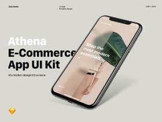 适用于现代时尚商店的高级电子商务应用UI套件,Athena Mobile UI套件