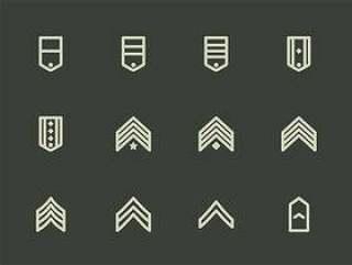 140 枚军队徽章元素图标