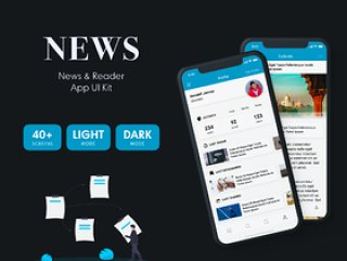 专为新闻应用,移动网站,博客应用,新闻和阅读器移动应用UI工具包而设计