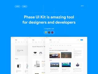 用于Sketch,Figma和Adobe XD的Web UI工具包,Phase UI Kit