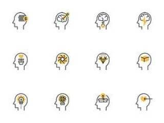 30 枚思维流程元素图标