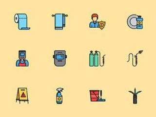 50 枚多彩家政元素图标