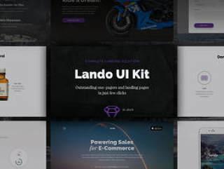 出色的单页和登陆页面,Lando UI Kit