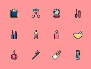 100 枚美容工具元素图标