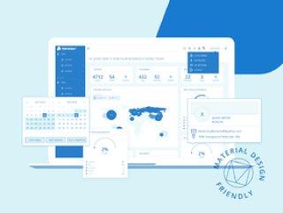 用于Sketch的Web App快速原型设计线框套件,Adminian 2线框套件