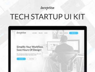 技术启动UI工具包,用于任何网站项目,Inception UI Kit