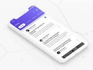 专为iPhone X上的任何文章,博客和新闻相关应用而设计。新闻iOS UI套件
