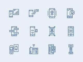 17 枚联系人元素图标