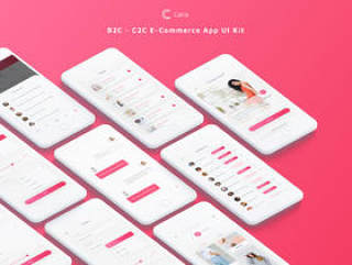 专为Sketch。,Caria设计的高品质B2C和C2C电子商务应用UI工具包 - 电子商务应用UI工具包