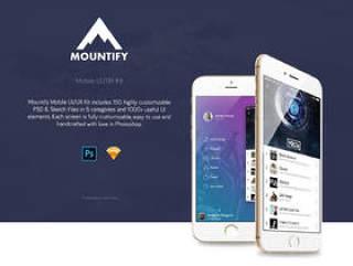 150 + PSD和素描移动模板和材料设计用户界面元素,Montify移动UI工具包