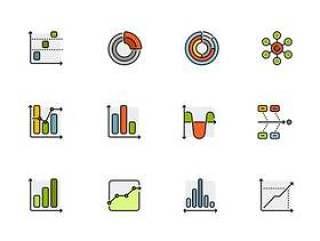 50 枚商务图表图标
