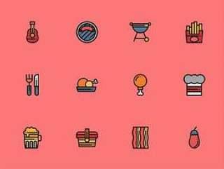50 枚烧烤派对元素图标