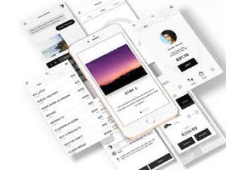 160个独特的手机屏幕和700多个自定义UI元素sketch源文件ui工具包下载