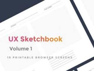15 Sketch的可打印浏览器屏幕,UX Sketchbook第1卷