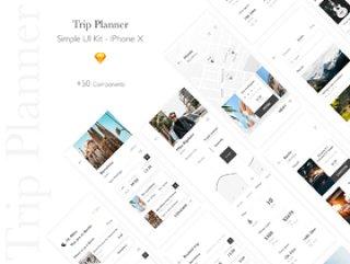 惊人的UI工具包为真正的环球旅行者创建一个应用程序!,Trip Planner App Kit