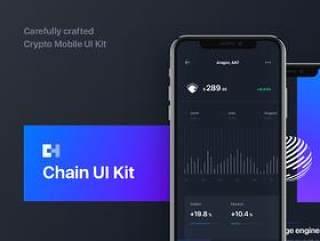 精心设计的Cryptocurrency Mobile UI Kit,Chain Crypto UI Kit