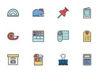 50 枚办公文具图标