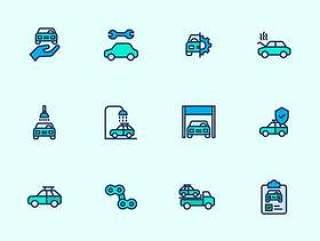 75 枚汽车元素图标