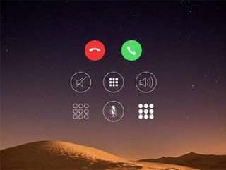 iOS Call Screen Icons