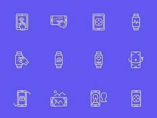 40 枚虚拟现实元素图标