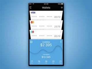 信用卡列表界面