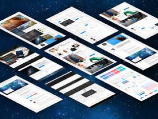 通用的现代UI工具包升级您的网站,宇宙用户界面工具包