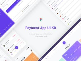 支付应用程序Web和移动UI工具包为Figma,支付应用程序Web和移动UI