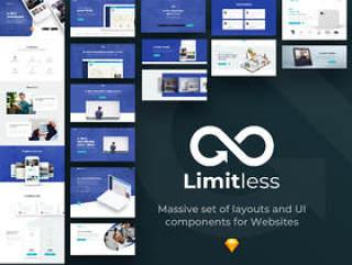 网站的大量布局和UI组件,无限的Web