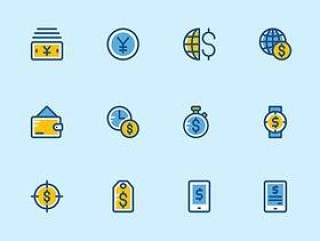 147 枚金融和支付元素图标