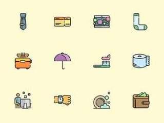 60 枚日常行为元素图标