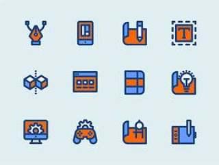 12 枚设计图标