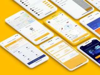 30个屏幕界面适用于iPhone X的共享旅行搭便车的UI工具包(含sketch源文件)