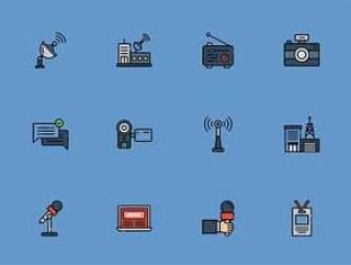30 枚新闻电视台元素图标