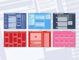 社交网站布局线框