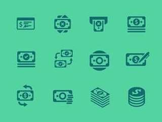 150 枚金融和货币图标