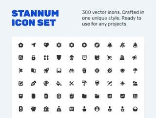 300个固体矢量图标。,斯坦纳姆图标集