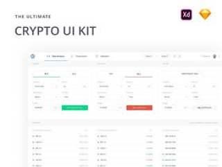 48个加密货币Web应用程序屏幕,用于Adobe XD和Sketch。,加密Web UI工具包