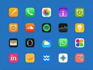83 枚热门 iOS 应用图标