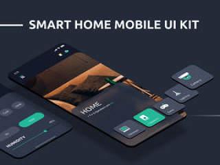 此套件包括30多个清洁和现代布局的屏幕。,Aurorab - 自动家庭移动应用程序