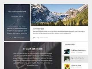 Universe 博客网页元素