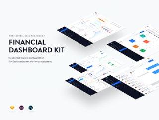 财务和银行仪表板Web App UI工具包,财务仪表板UI工具包