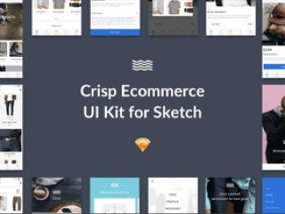 详细的素描电子商务UI工具包,清脆的用户界面工具包