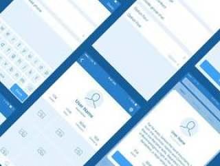 Platforma 个人资料界面线框