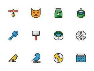 50 枚宠物商店元素图标