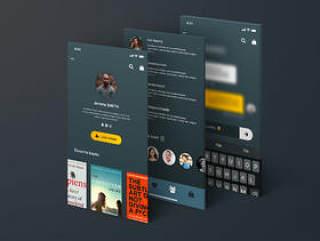 高品质书店,28个高级屏幕,ManyBooks iOs UI Kit
