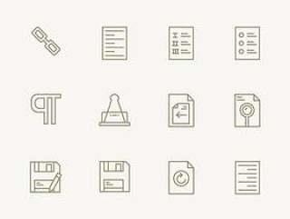 40 枚文本编辑器图标