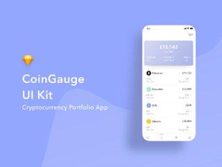 适用于投资组合,银行和钱包应用程序的惊人的加密货币UI工具包,CoinGauge UI工具包