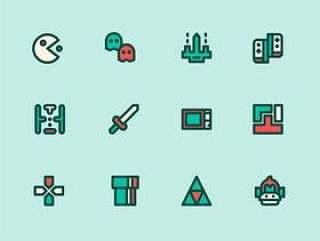 99 枚视频游戏元素图标